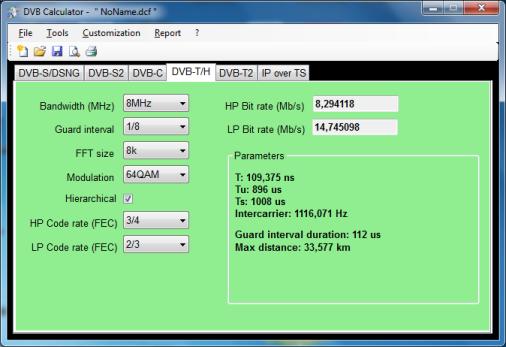 DVB Calculator